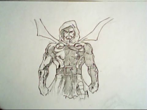 480x360 How To Draw Doctor Doom From The Fantastic Four (Marvel Comics
