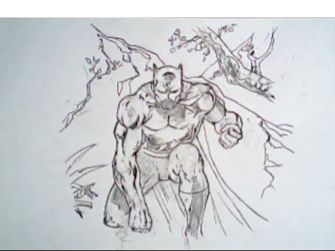480x360 How To Draw The Black Panther From Fantastic Four (Marvel Comics