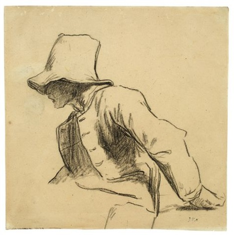 467x470 Seated Farm Boy, Turned To The Left By Jean Millet On Artnet