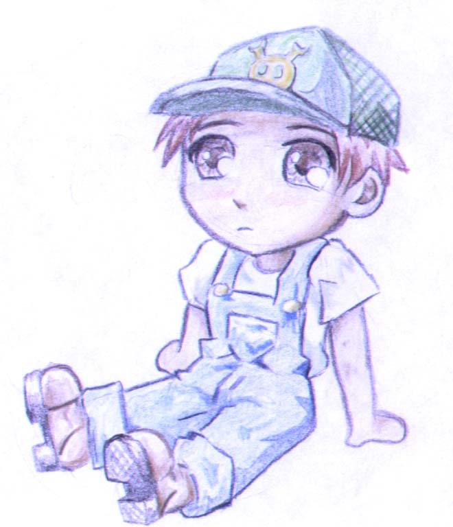 660x768 Little Farm Boy. By Pells Art