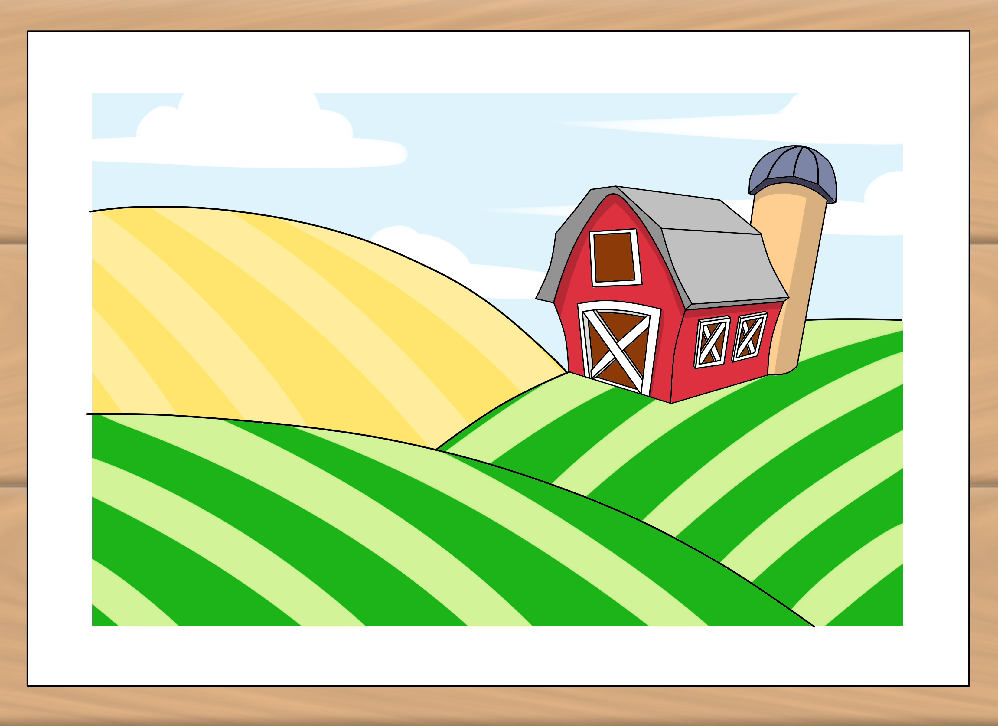 Farm Drawing at GetDrawings.com | Free for personal use Farm Drawing ...