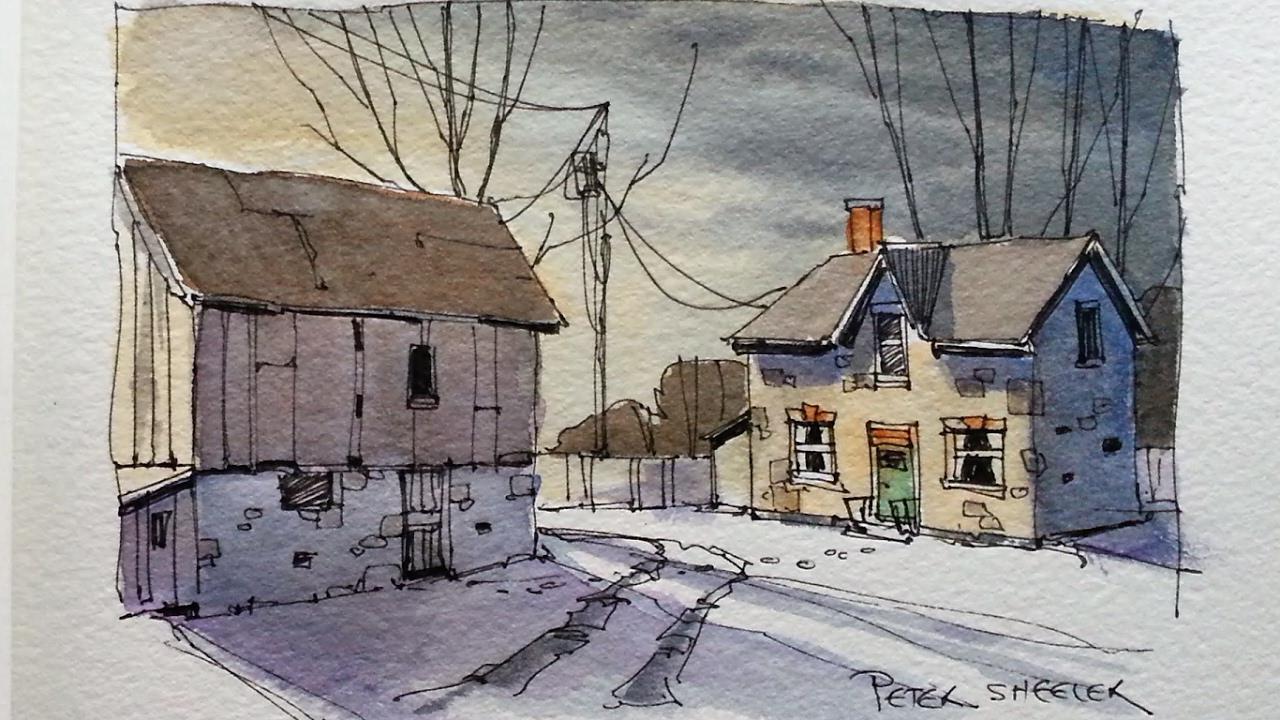 Resultado de imagen de drawing of evening scene