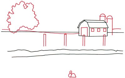 400x251 Magnificent 10 Farm Barn Drawing Design Decoration Of Free