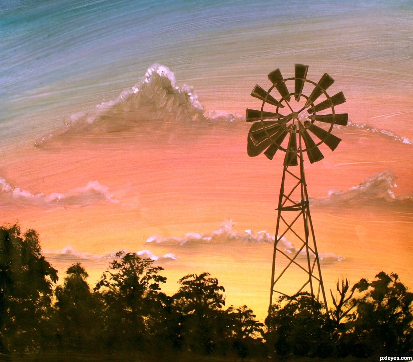 1400x1228 Farm Windmill