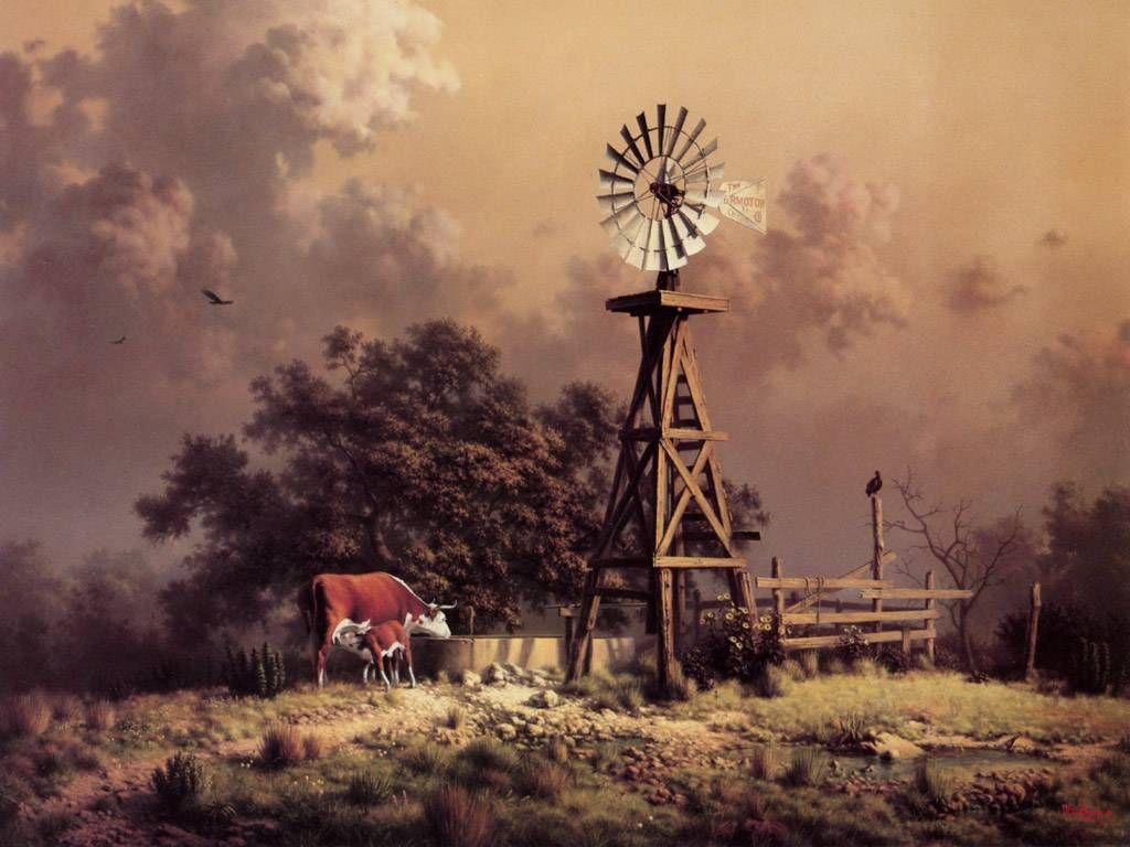 1024x768 Old Windmills Free Old Farm Windmill Wallpaper