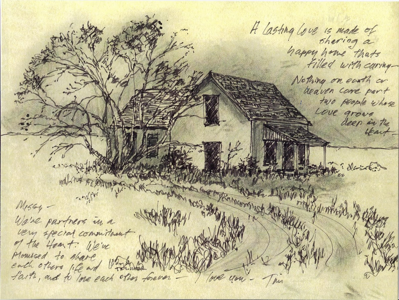 1600x1205 Tim Oliver39s Sketchbook Old Farmhouse West Of Rich Lake Terry