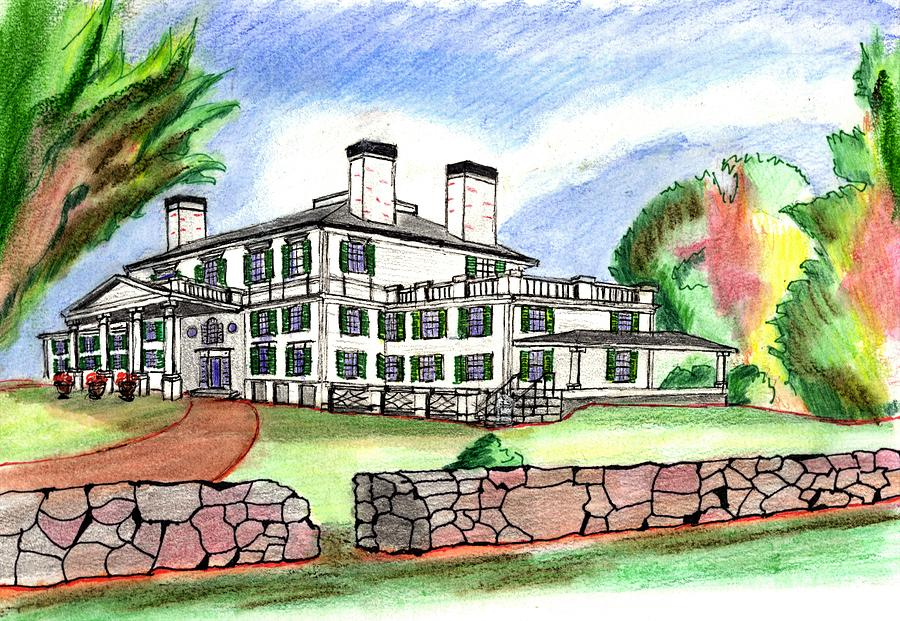 900x621 Glen Magna Farms Danvers Drawing By Paul Meinerth