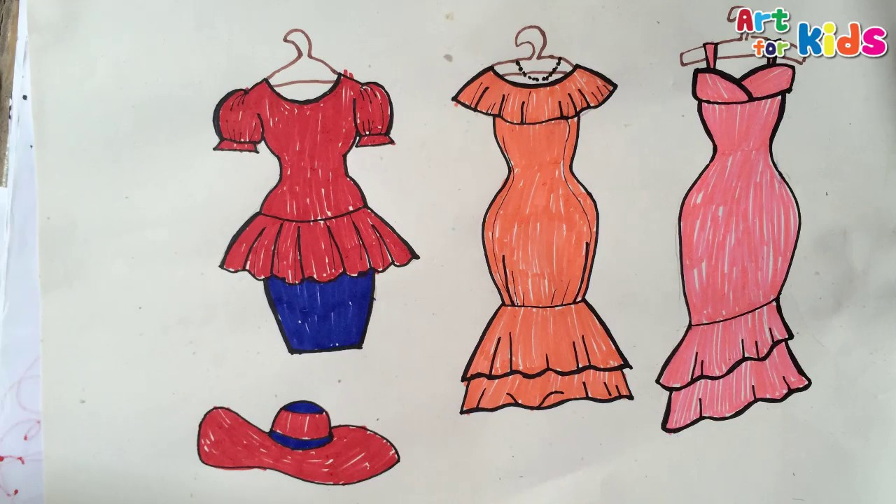 1280x720 How To Draw Fashion Clothes Kids 13 How To Draw Dresses