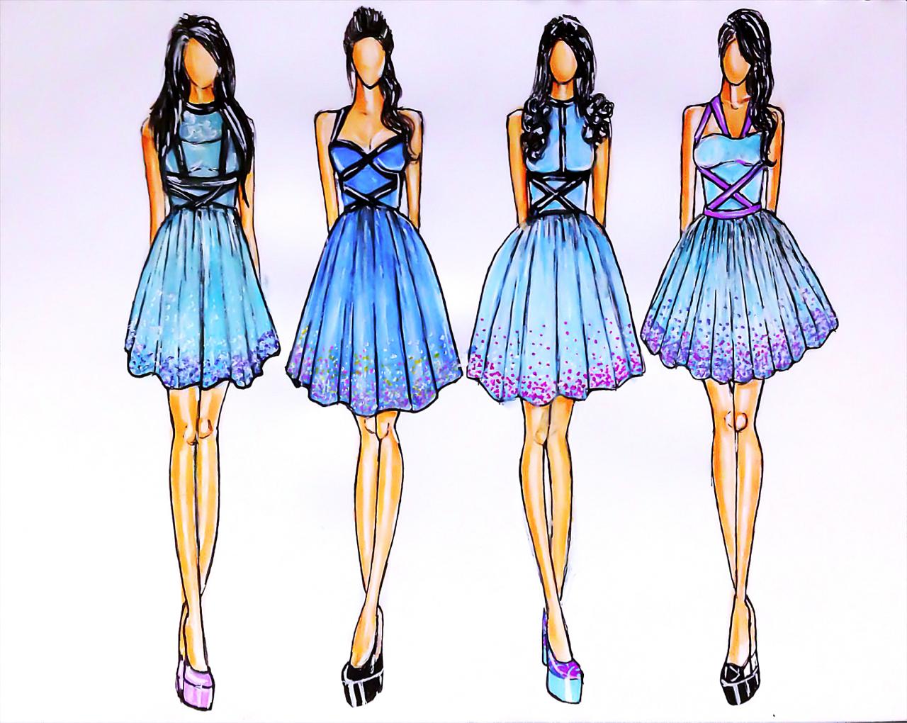 Dress Drawing Ideas Fashion Happy Emotion