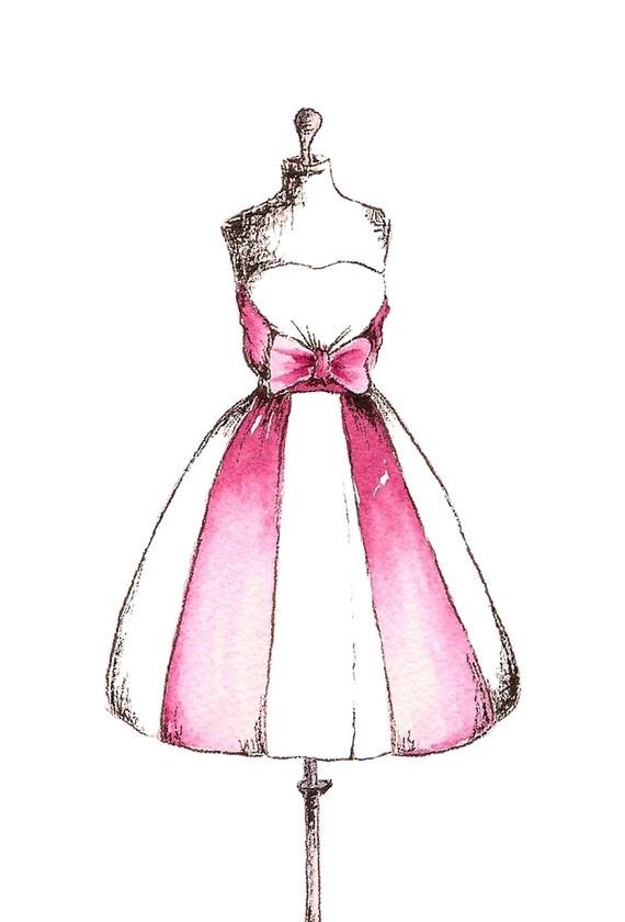 570x840 Amazing Cocktail Dress Drawing Frieze