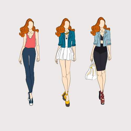 fashion model drawing at getdrawingscom free for