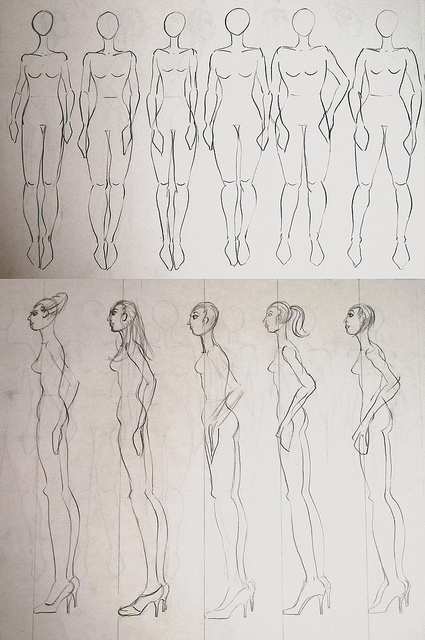 425x640 2012.02.08 More Fashion Figure Drawings Thing A Day Forever