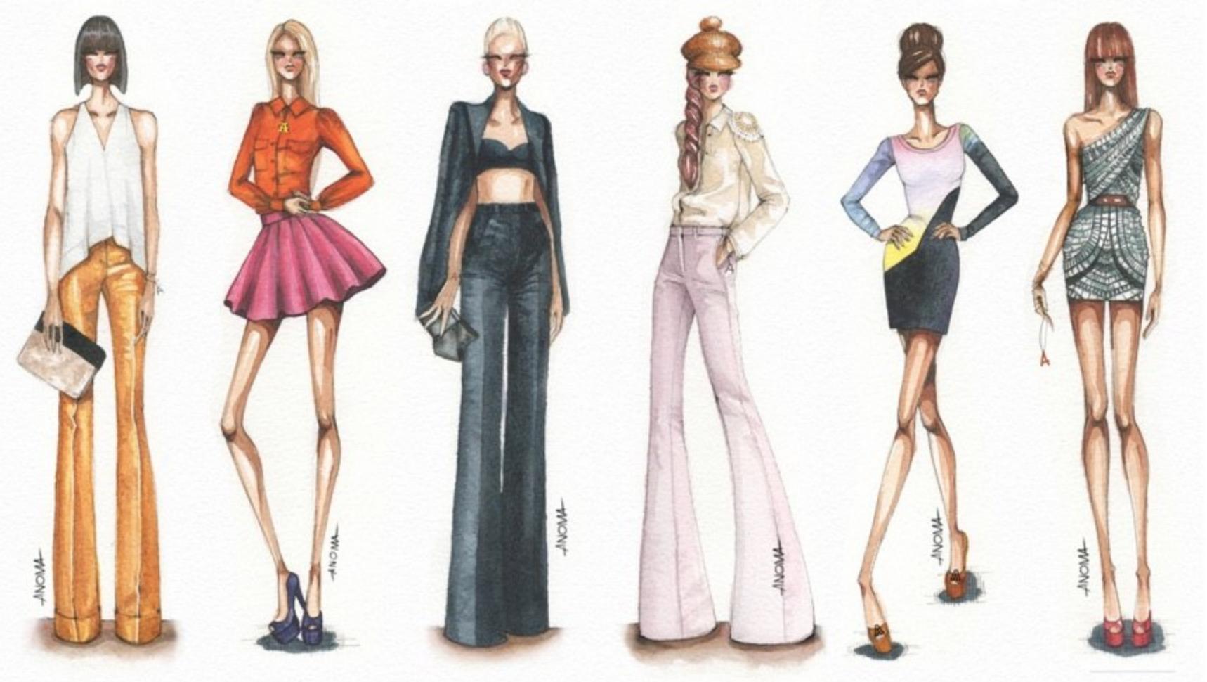 1718x970 Drawing Fashion Model