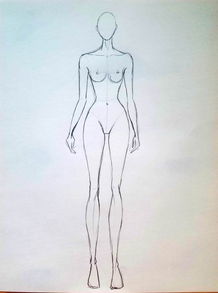 761x1024 How To Draw A Fashion Croquis