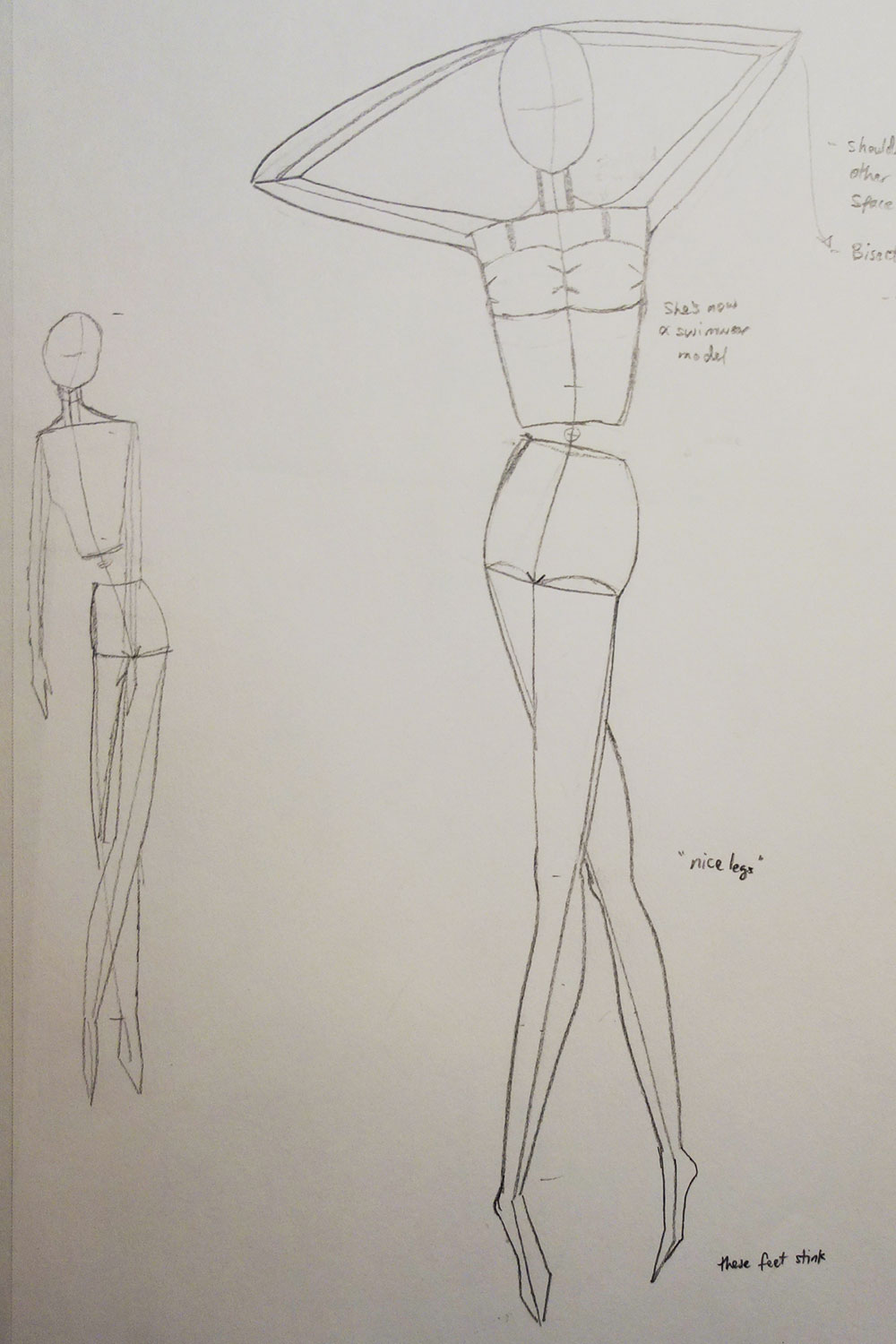 Fashion Model Figure Drawing at GetDrawings.com | Free for personal ...