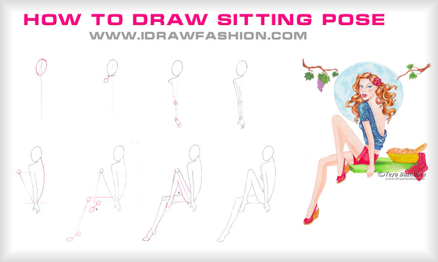 Fashion Poses Drawing At Getdrawingscom Free For Personal