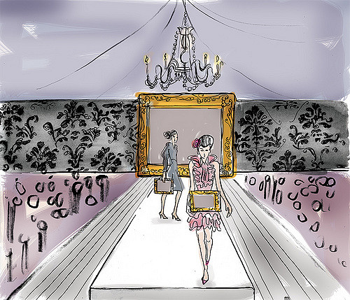500x429 Fashion Show Concept Drawing This Was A Sketch Of What We