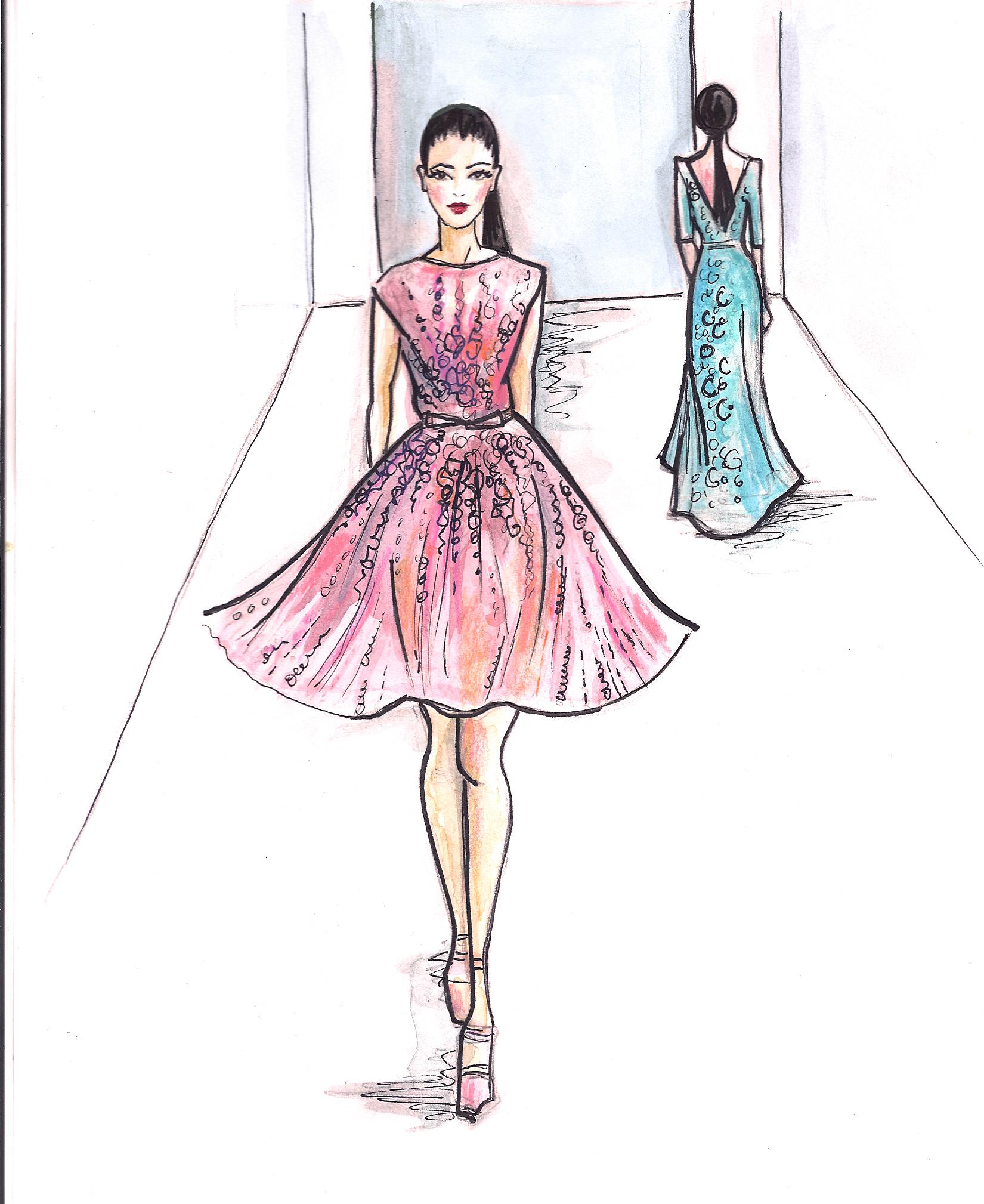 1650x2018 More Fashion Week Illustrations Sara Japanwalla