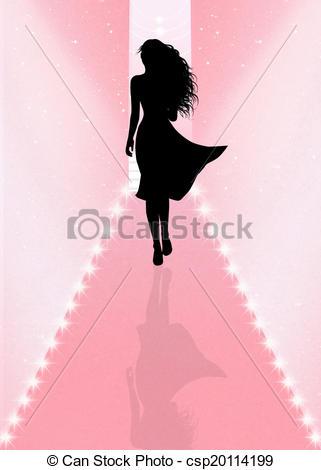 321x470 Illustration Of Fashion Show Stock Illustration