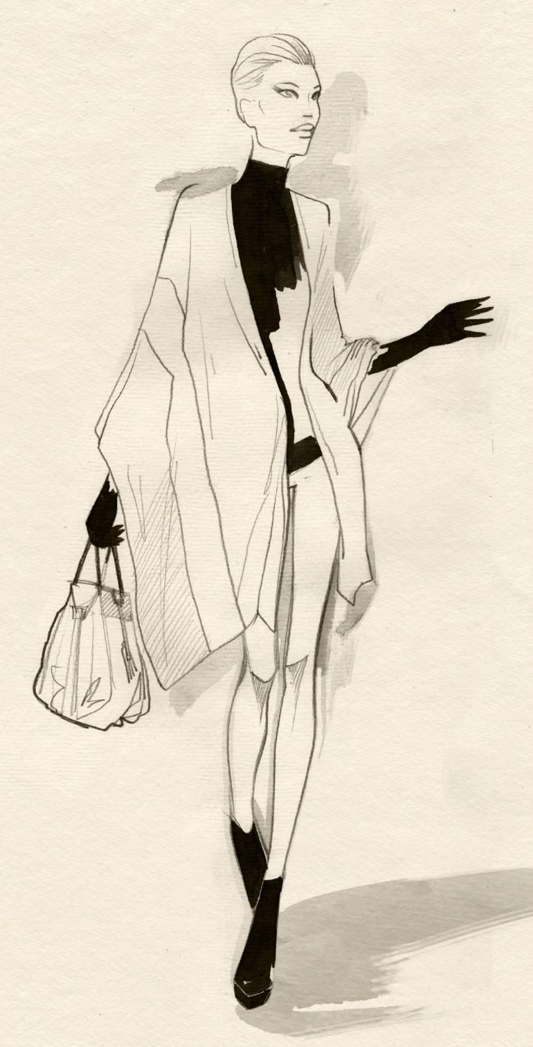 770x1510 Saatchi Art Fashion Show 003 Drawing By Dimitri Jelezky