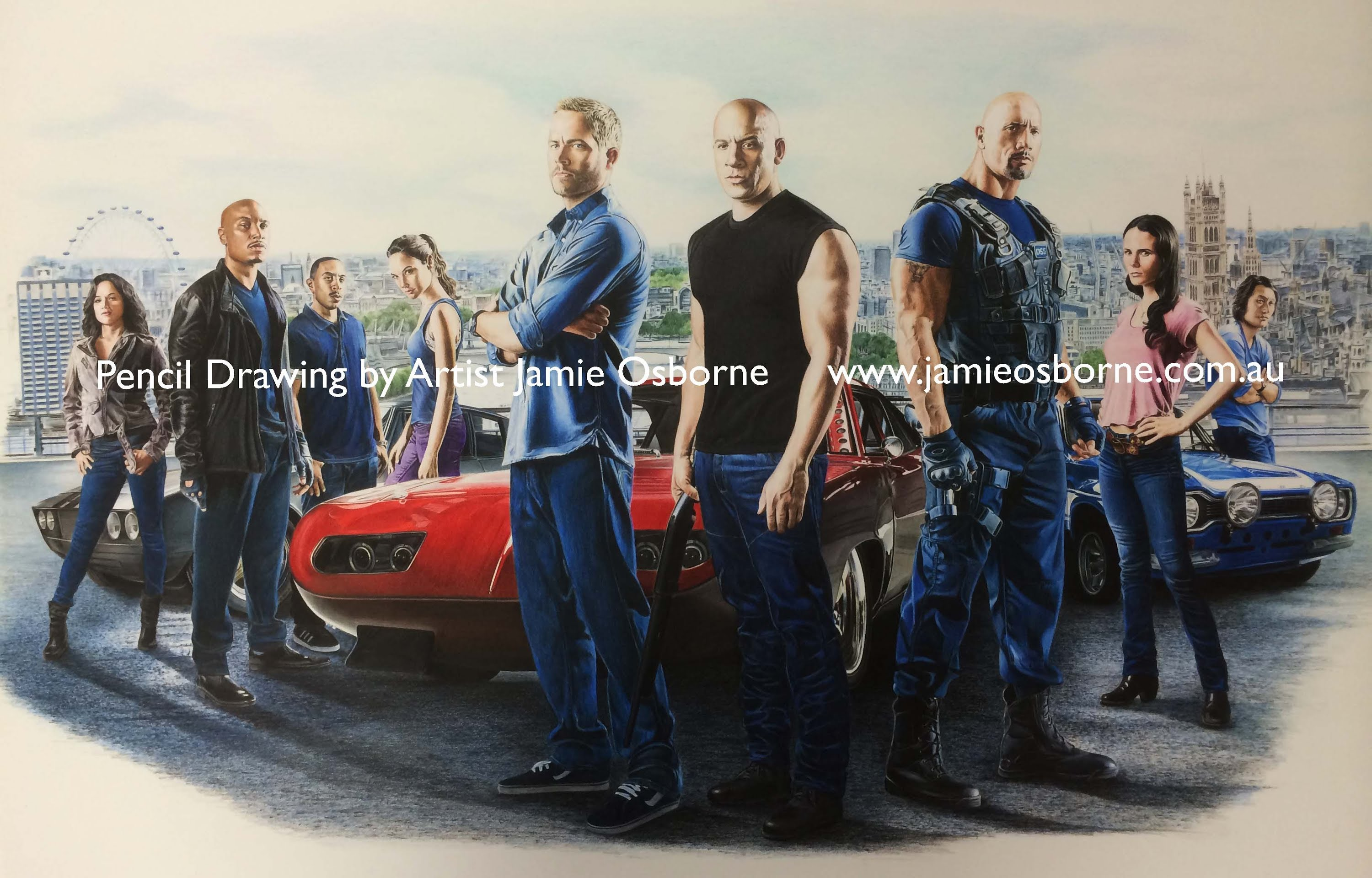 3000x1919 Fast And Furious 6 In Colour Pencil Hd