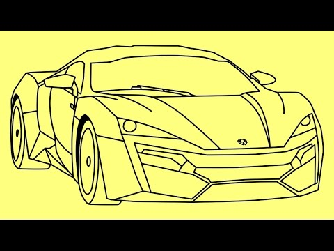 480x360 How To Draw Lykan Hypersport Fast And Furious 7 Car
