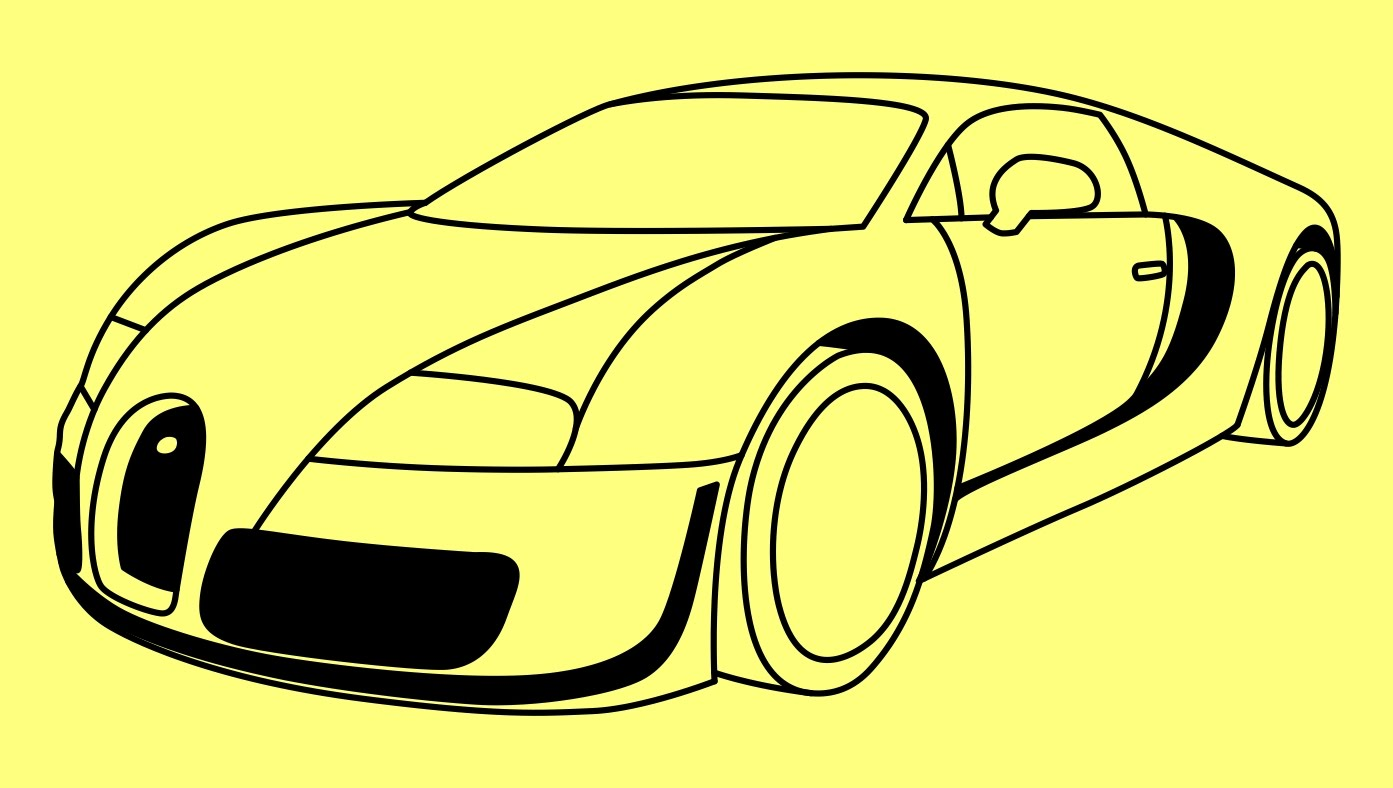 1393x788 How To Draw A Car Bugatti Veyron Fast And Furious 7 Step By Step