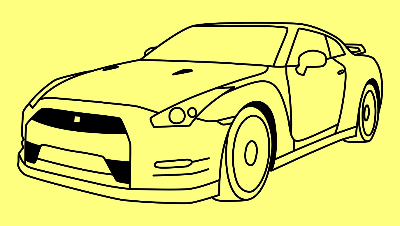 1372x776 How To Draw A Car Nissan Gtr Fast And Furious 7