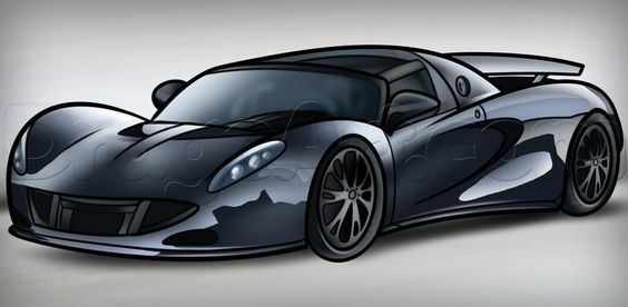 564x276 How To Draw The Hennessey Venom Gt, Step By Step, Cars, Draw Cars