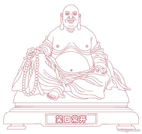 590x556 4 Designer Laughing Buddha Vector