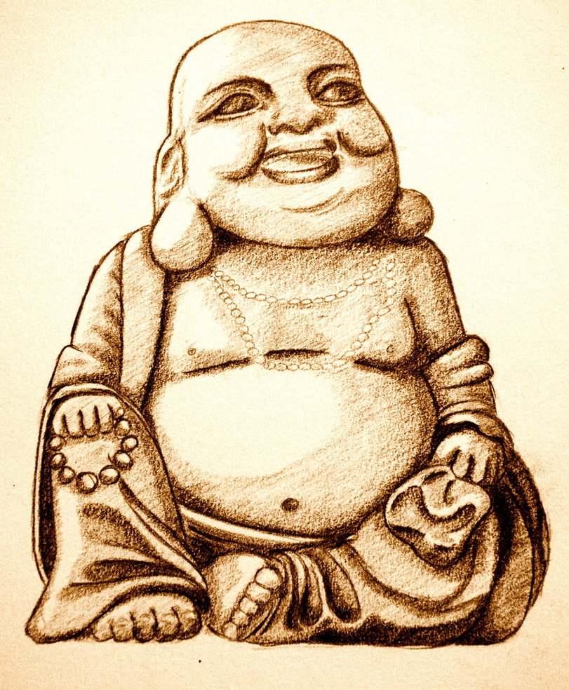 811x984 Laughing Buddha By Saarsel