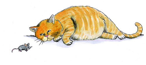 500x225 How To Draw A Fat Cat Fat Cat Drawings Drawings