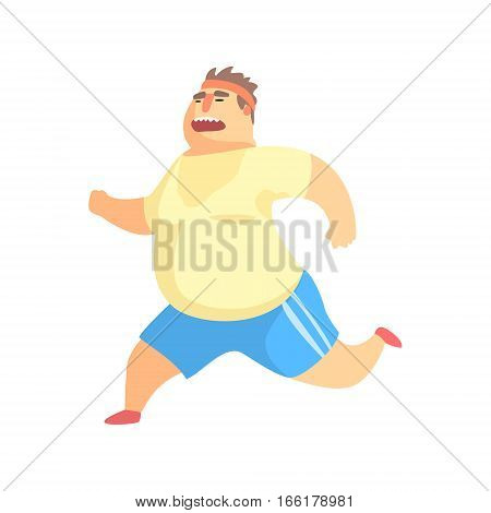 450x470 Funny Chubby Man Character Doing Vector Amp Photo Bigstock