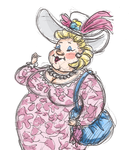 462x519 Fat Purse Lady By Kittychasesquirrels