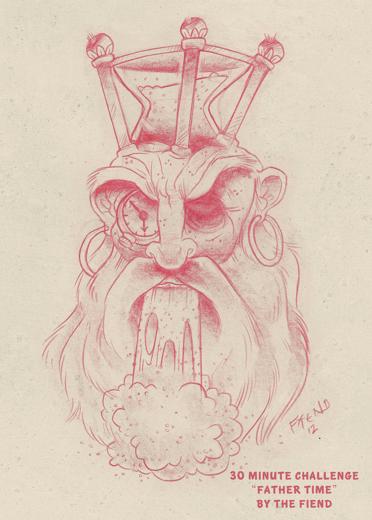 Father Time Drawing at GetDrawings.com | Free for personal use ...