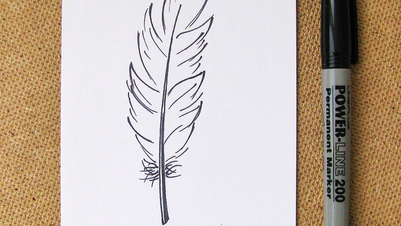 1280x720 How To Draw An Easy Feather