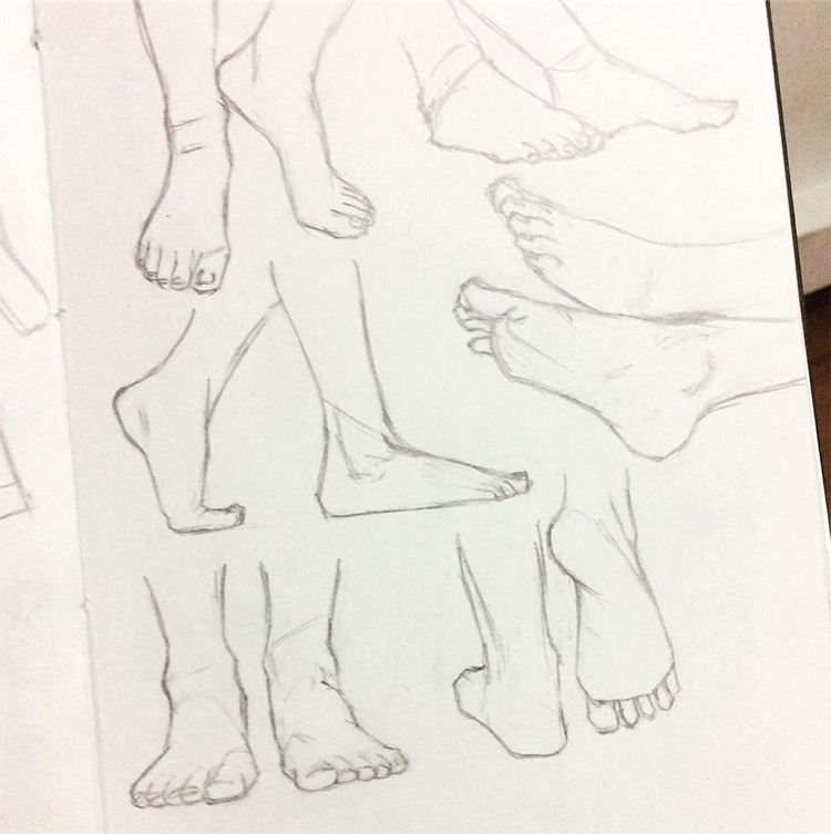 750x753 Drawings Of Feet Sketches Amp Anatomy Studies