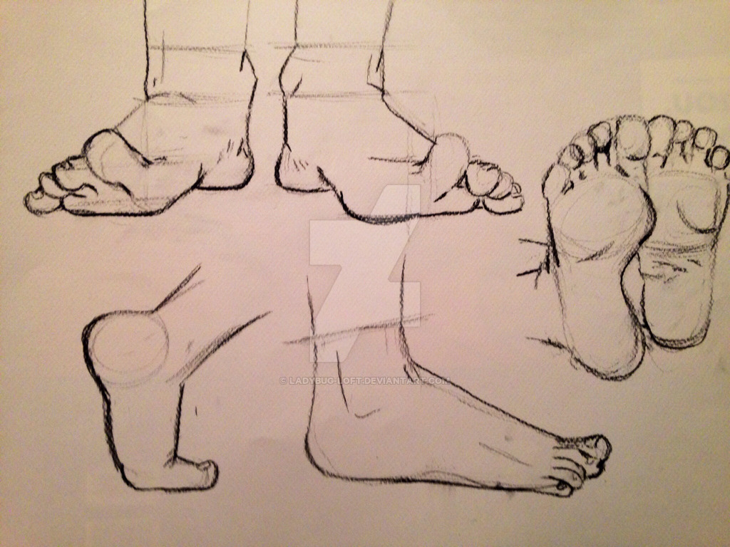 1024x768 Hand Drawn Feet Drawing 1