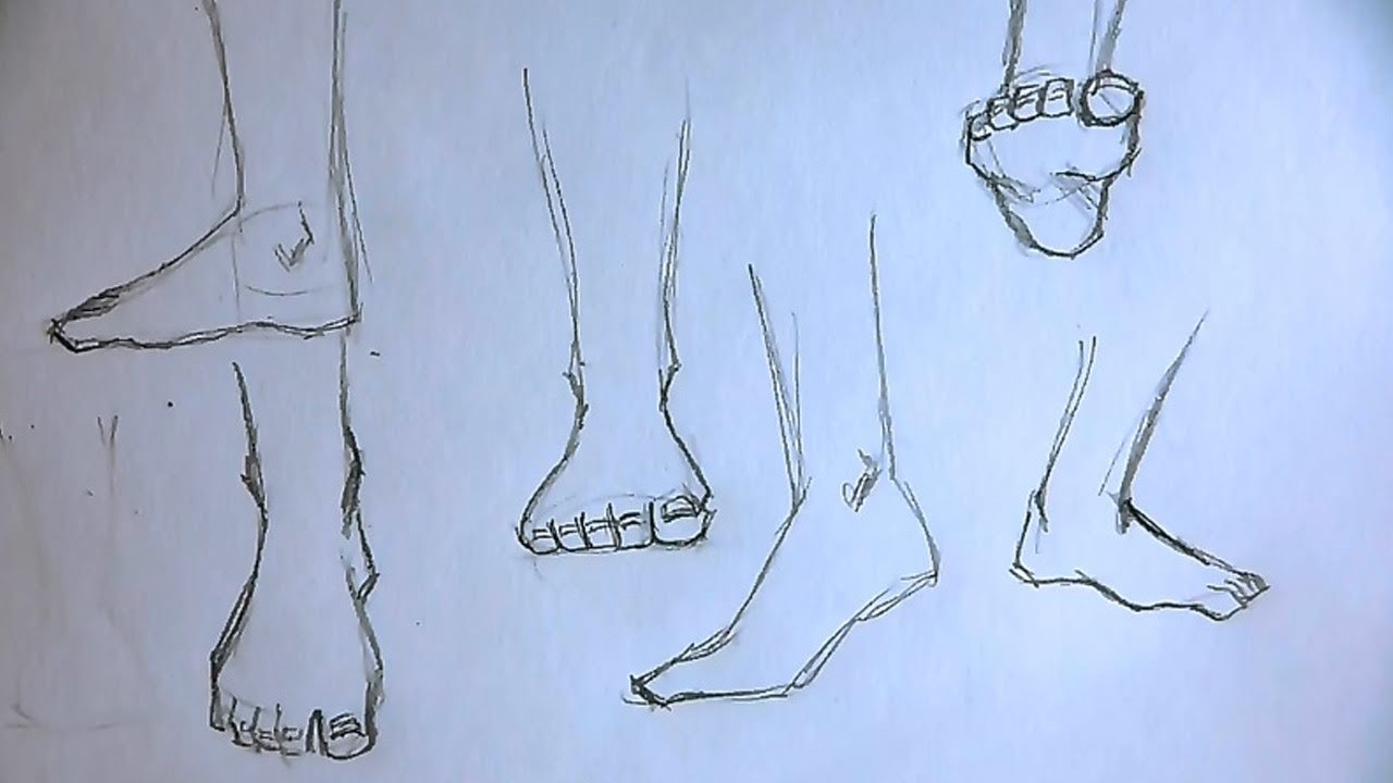 1280x720 How To Draw Foot 5 Different Ways