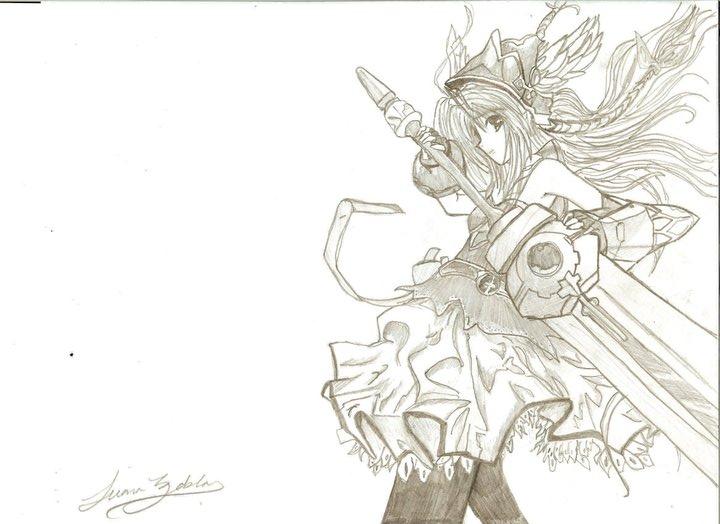 720x524 Female Anime Warrior By Lulubell01
