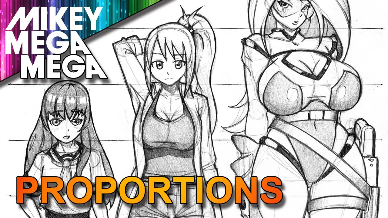 1280x720 How To Draw Female Full Body Proportions Amp Head Ratio For Anime