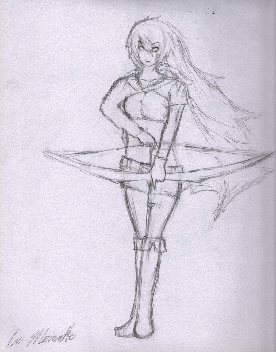 900x1146 Archer Girl Sketch By Toxic Pepper