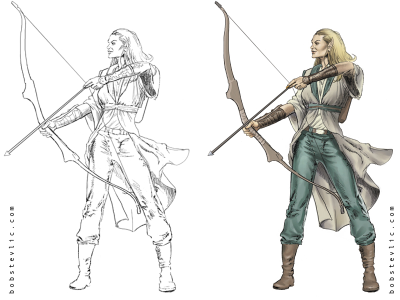 800x600 Female Archer Pencil To Color By Thestyleofnostyle