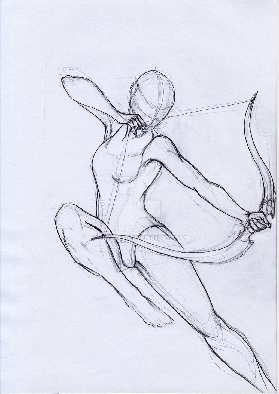 1024x1448 Pose Study Archer By Aryaenne
