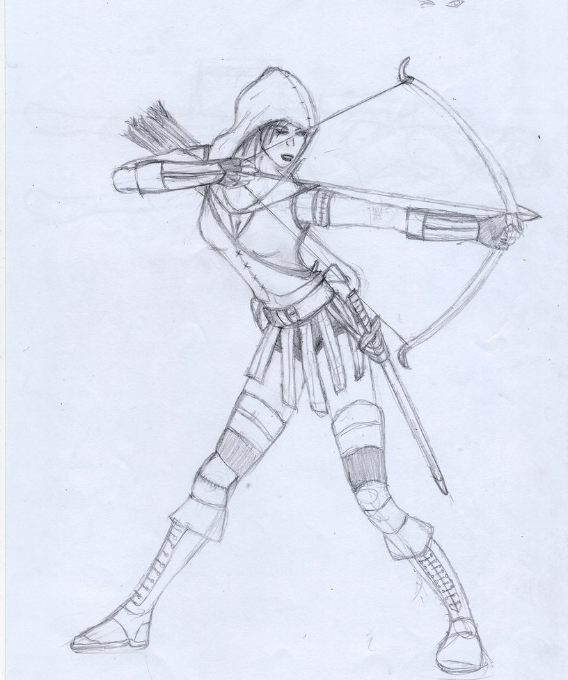 816x977 Yet Another Female Archer By Scoutct6