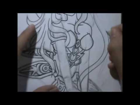 480x360 Drawing Female Armor