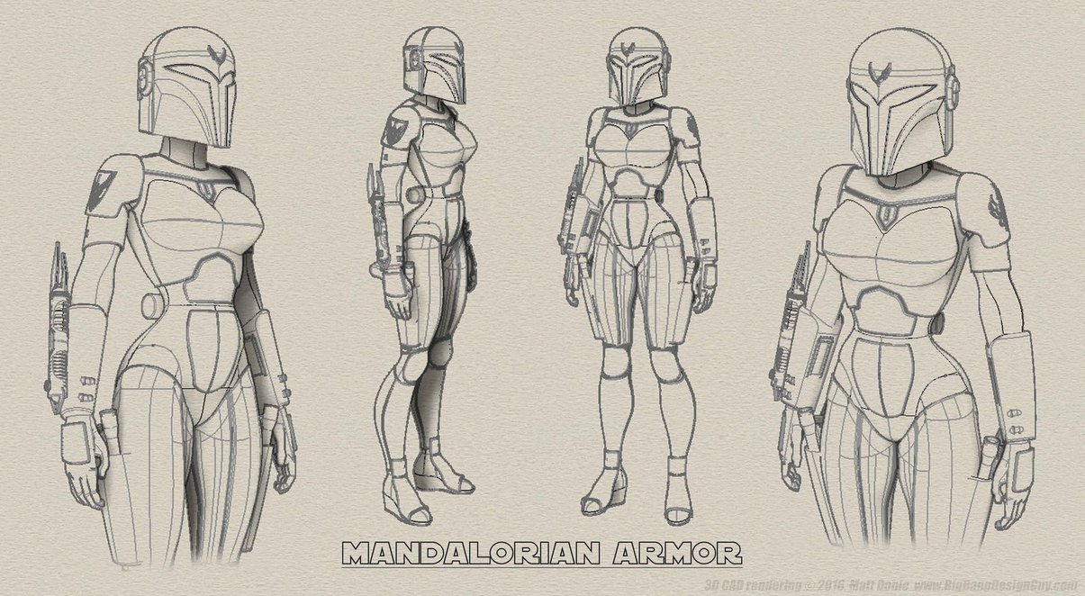 1205x662 Female Mandalorian Armor Detail By Ravendeviant