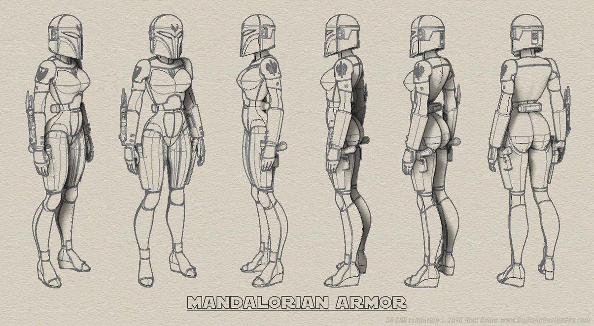 1205x662 Female Mandalorian Armor Turnaround 02 By Ravendeviant
