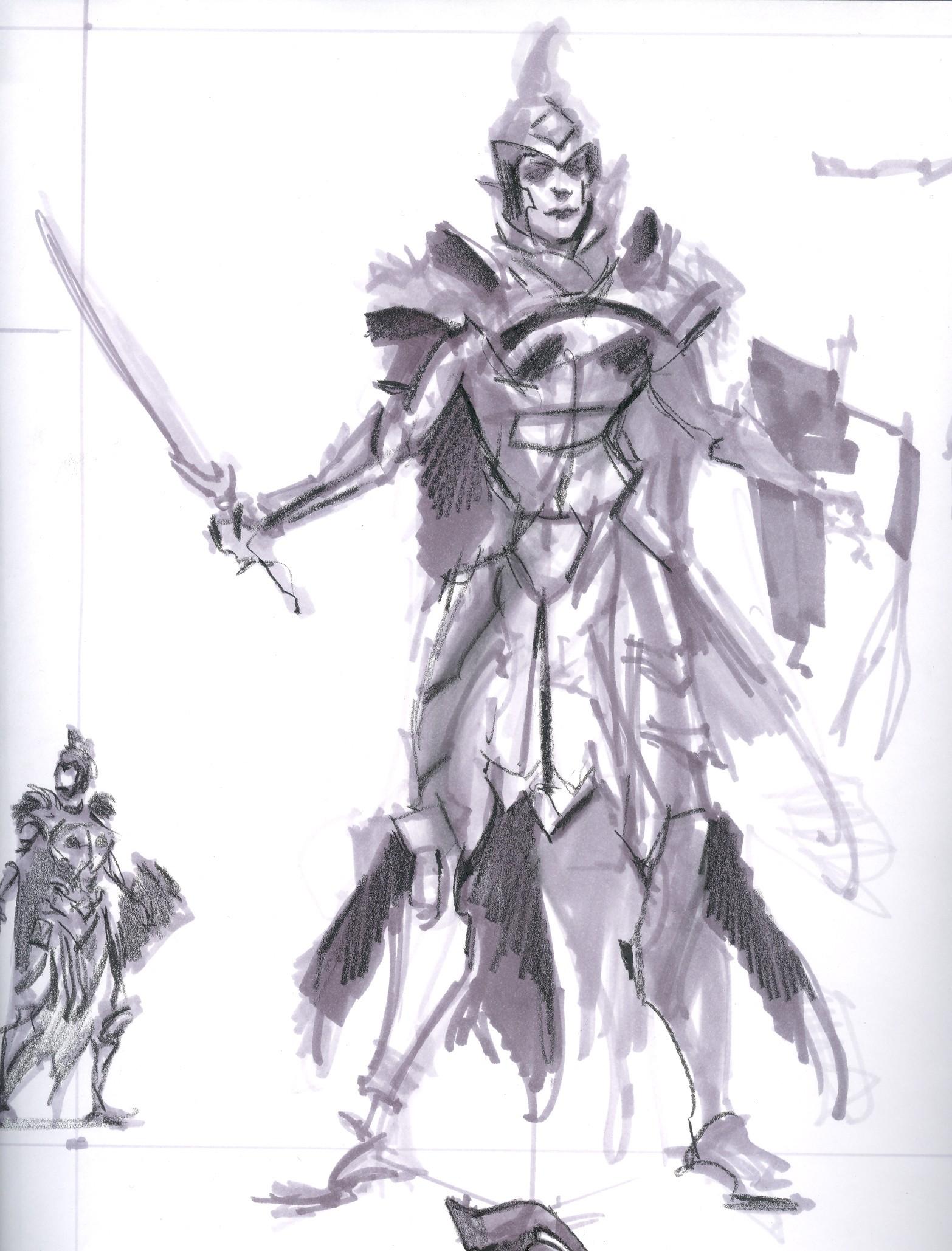 1566x2058 Imperial Armor Female Rough Sketch Video Games Artwork