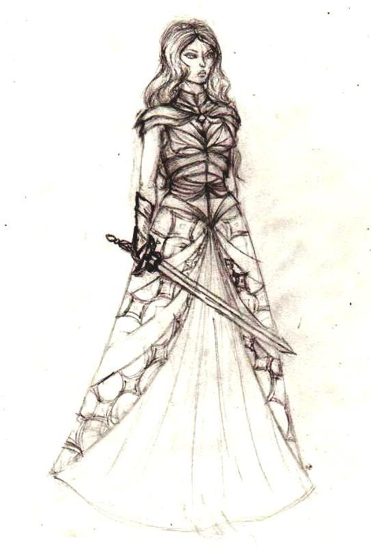 541x809 Okay, So This Is A Rough Female Armor Design Sketch.